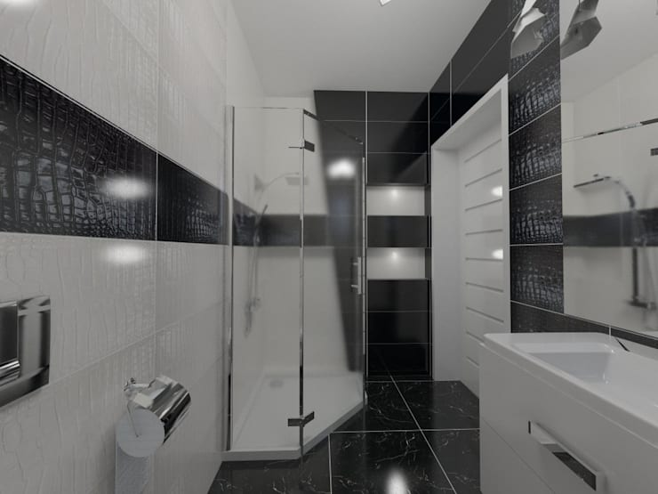 Wieloboki: styl , w kategorii Łazienka zaprojektowany przez Katarzyna Wnęk,
