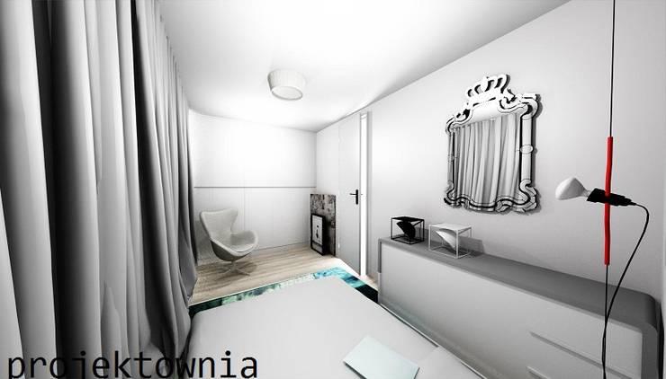 Sypialnia: styl , w kategorii Sypialnia zaprojektowany przez Projektownia Marzena Dąbrowska