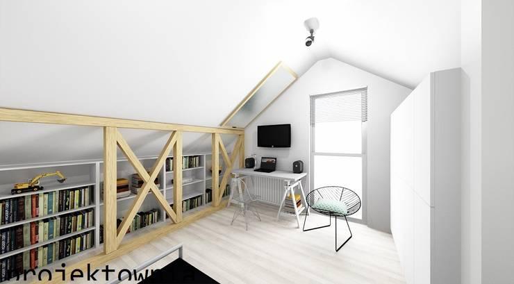 Poddasze: styl , w kategorii Pokój dziecięcy zaprojektowany przez Projektownia Marzena Dąbrowska