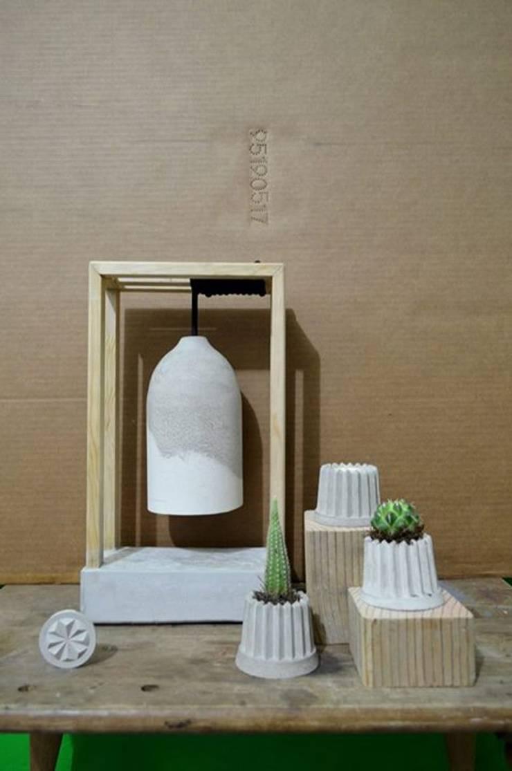 Decoración de concreto: Hogar de estilo  por Pitaya