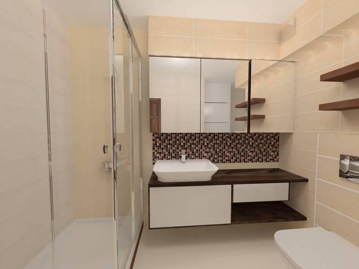 Wizualizacja szafki pod umywalkę: styl , w kategorii Łazienka zaprojektowany przez Katarzyna Wnęk