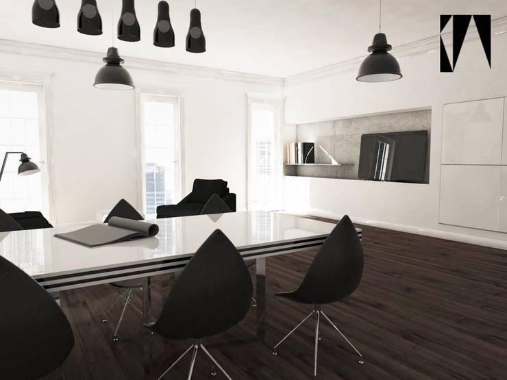 Kawałek stołu : styl , w kategorii Jadalnia zaprojektowany przez Katarzyna Wnęk,