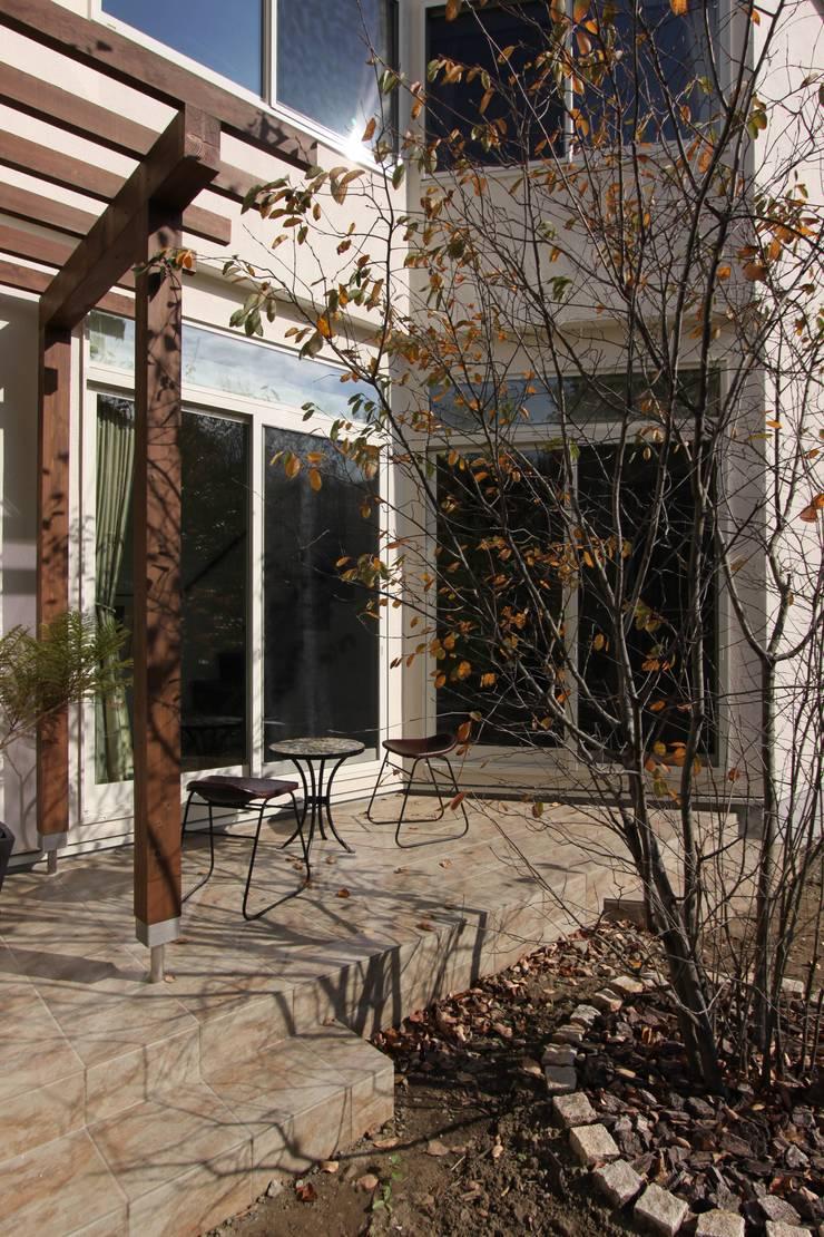 ギャラリーのある家: アトリエグローカル一級建築士事務所が手掛けた庭です。