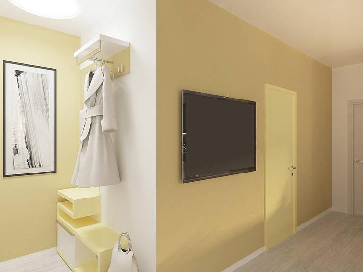 Студия-квартира для творческой пары : Коридор и прихожая в . Автор – OK Interior Design