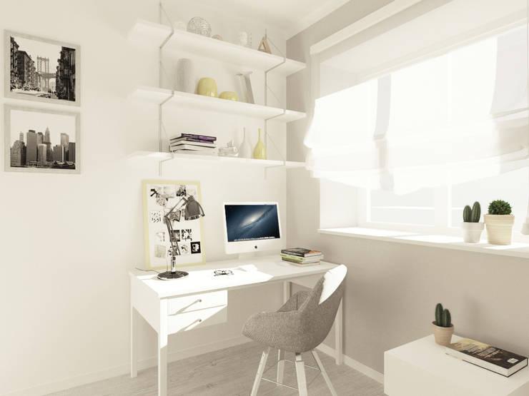Студия-квартира для творческой пары : Рабочие кабинеты в . Автор – OK Interior Design