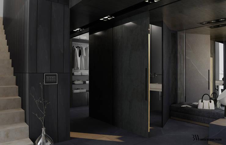 Hol i garderoba: styl , w kategorii Garderoba zaprojektowany przez Bartek Włodarczyk Architekt