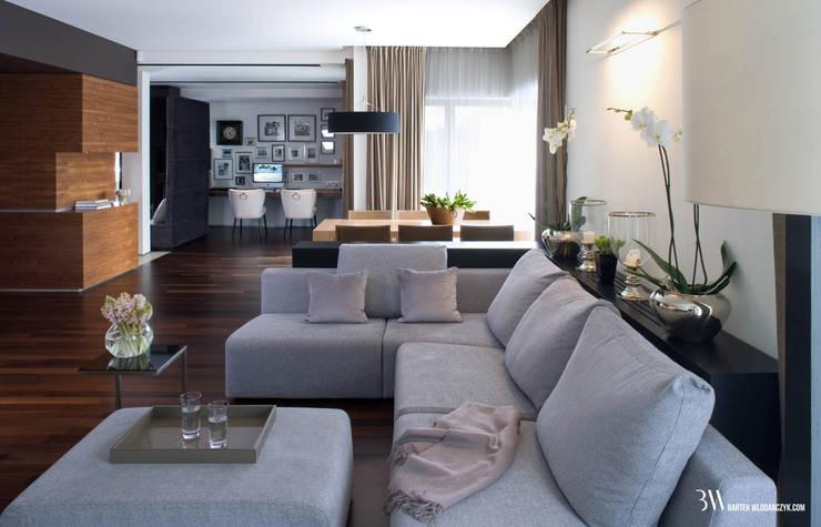 Living room by Bartek Włodarczyk Architekt