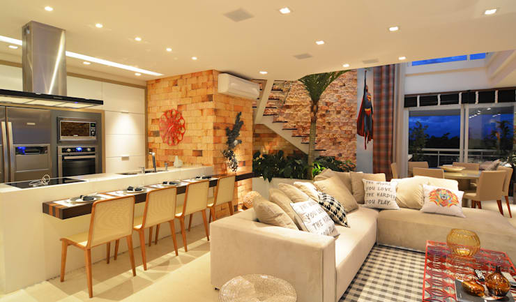 Living room by ANNA MAYA ARQUITETURA E ARTE