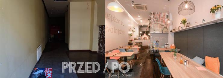 Pizzeria zaaranżowana przy minimalnym budżecie: styl , w kategorii  zaprojektowany przez Zig Zag