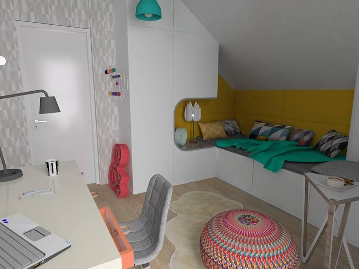 Pokój dla dziewczynki: styl , w kategorii  zaprojektowany przez Zig Zag