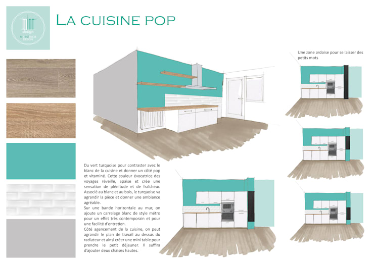 Cucina in stile in stile Moderno di Mint Design
