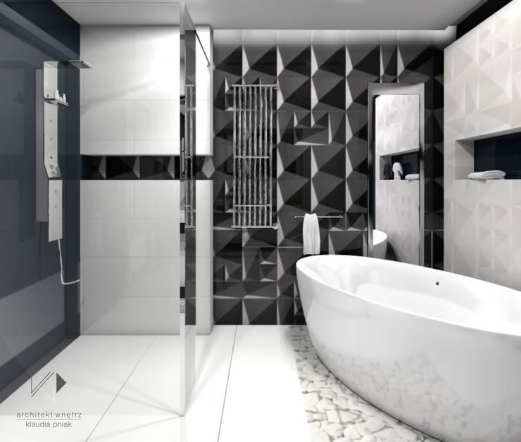 Łazienka Glamour : styl , w kategorii Łazienka zaprojektowany przez Architekt wnętrz Klaudia Pniak