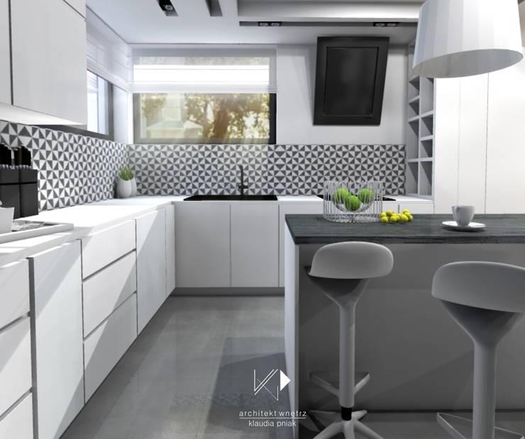 Kuchnia : styl , w kategorii Kuchnia zaprojektowany przez Architekt wnętrz Klaudia Pniak,