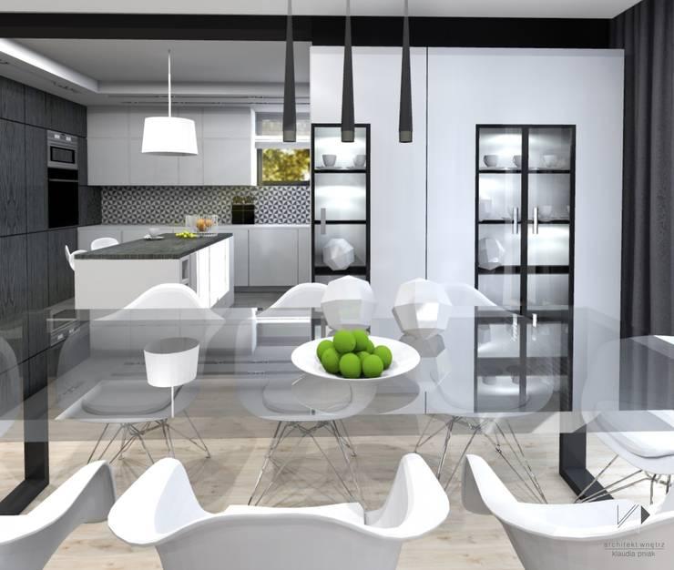 Jadalnia : styl , w kategorii Jadalnia zaprojektowany przez Architekt wnętrz Klaudia Pniak,