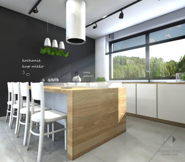 Kuchnia : styl , w kategorii Kuchnia zaprojektowany przez Architekt wnętrz Klaudia Pniak