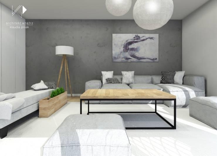 Salon : styl , w kategorii Salon zaprojektowany przez Architekt wnętrz Klaudia Pniak