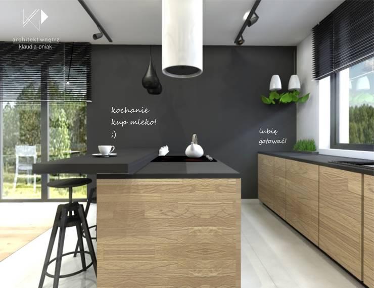 Ściana tablicowa w kuchni: styl , w kategorii Kuchnia zaprojektowany przez Architekt wnętrz Klaudia Pniak