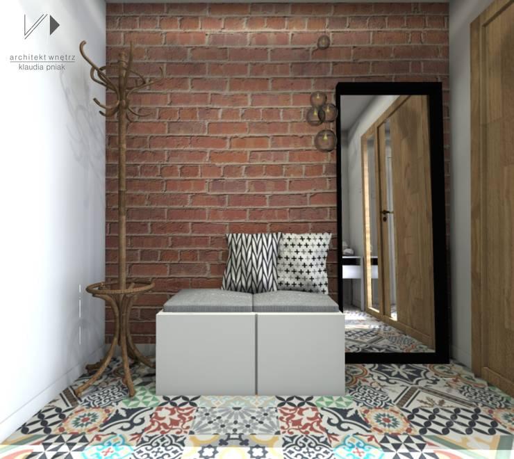 Wiatrołap w kolorowym wydaniu... : styl , w kategorii Korytarz, przedpokój zaprojektowany przez Architekt wnętrz Klaudia Pniak