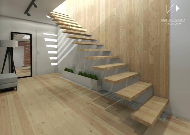 Schody: styl , w kategorii Korytarz, przedpokój zaprojektowany przez Architekt wnętrz Klaudia Pniak,