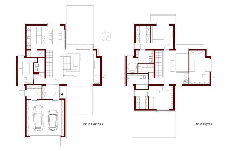 Cyryl House: styl , w kategorii  zaprojektowany przez ŁUKASZ ŁADZIŃSKI ARCHITEKT,Nowoczesny