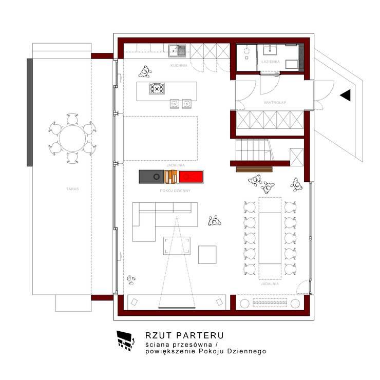 Dom w Zabudowie Śląskiej: styl , w kategorii  zaprojektowany przez ŁUKASZ ŁADZIŃSKI ARCHITEKT,