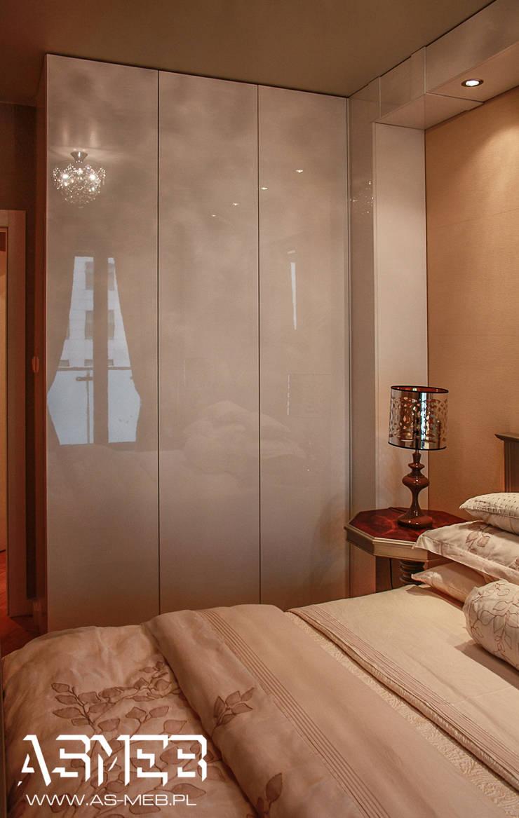 REALIZACJA Sienna, Warszawa: styl , w kategorii Sypialnia zaprojektowany przez AS-MEB,Nowoczesny Plastik