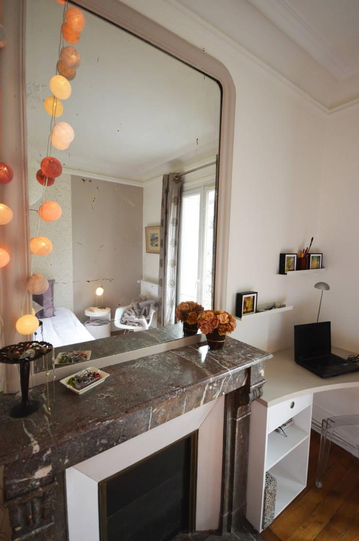 chambre romantique et design appartement haussmannien par parisdinterieur homify. Black Bedroom Furniture Sets. Home Design Ideas