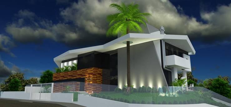 Residência Aventador: Casas  por ANNA MAYA & ANDERSON SCHUSSLER