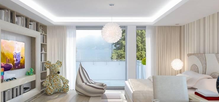 Интерьер двухуровневой квартиры, Швейцария, Локарно: Детские комнаты в . Автор – LOFTING