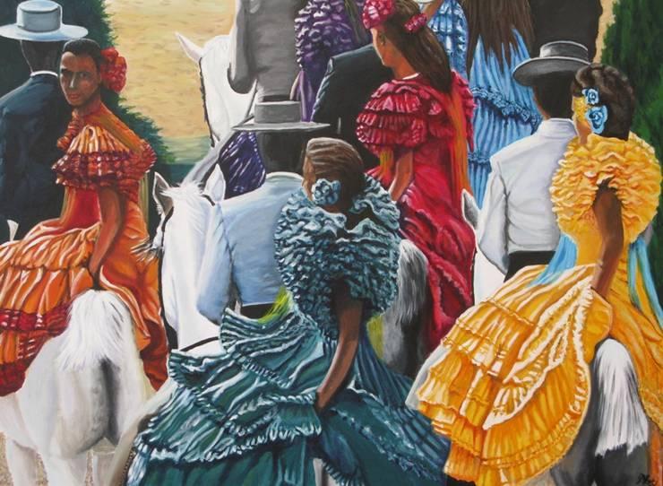 Jerez :  Kunst  door www.paardenschilderijen.com