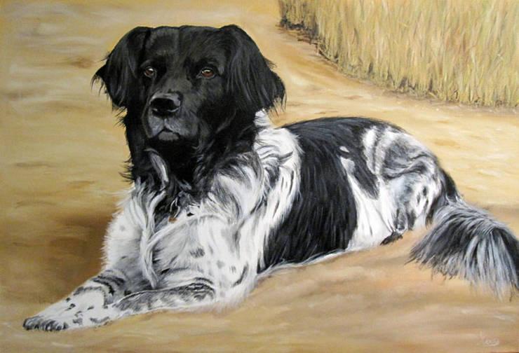 Friese Stabij:  Kunst  door www.paardenschilderijen.com