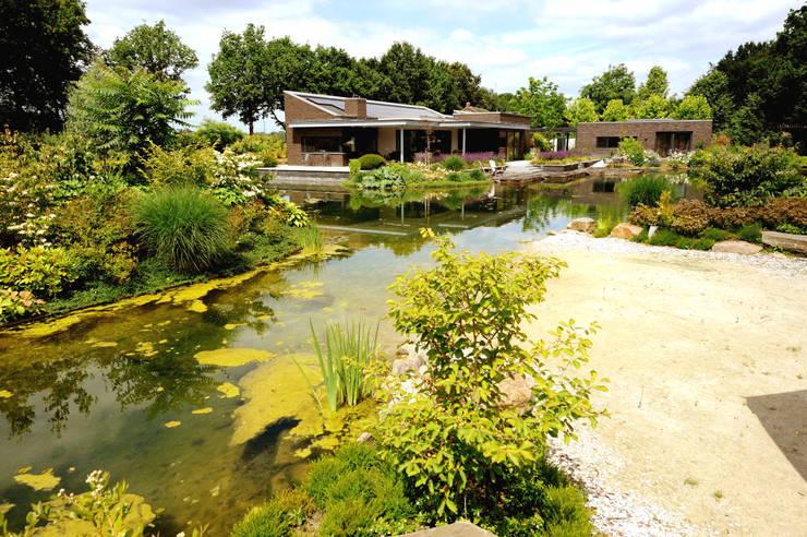 Zwemvijver Weert:  Tuin door Tuindesign & Styling Ves Reynders