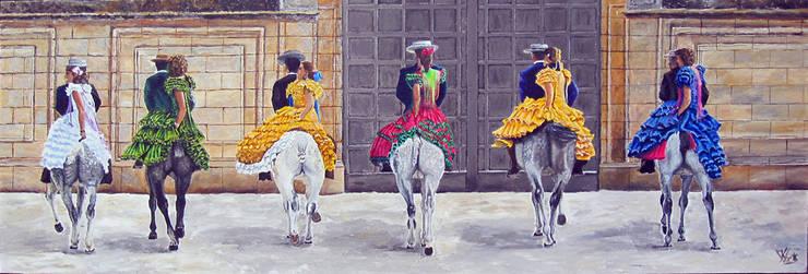 Jerez:  Kunst  door www.paardenschilderijen.com