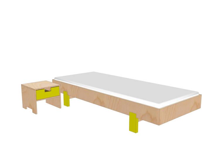 Eenpersoonsbed eenvoudig zelf maken:   door Neo Eko Designmeubel Werktekeningen