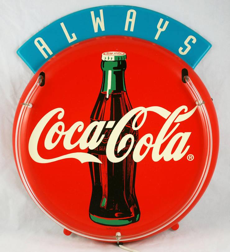 Vintage Coca Cola lichtreclame:   door Smeerling Antiek & Restauratie, Industrieel