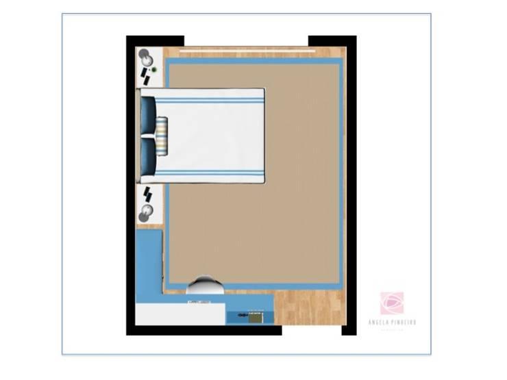 Quarto Bernardo: Quartos de criança  por Ângela Pinheiro Home Design