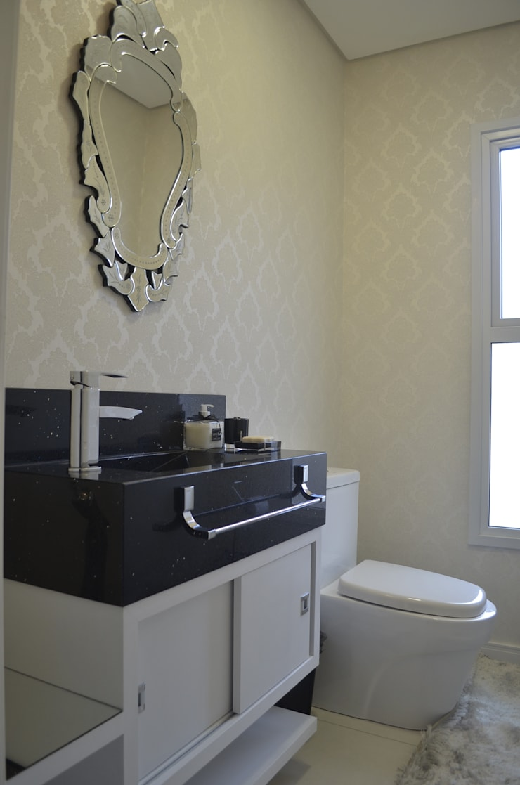 Lavabo luxo: Banheiros  por Ésse Arquitetura e Interiores,