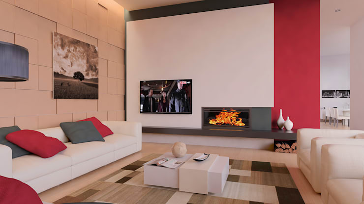 Interior | Living Room: Salas de estar  por Creative Architecture Visualization