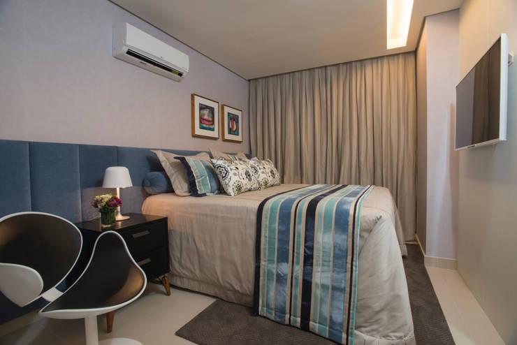 Apartamento Integrado: Quartos  por EL ARQUITETURA E INTERIORES
