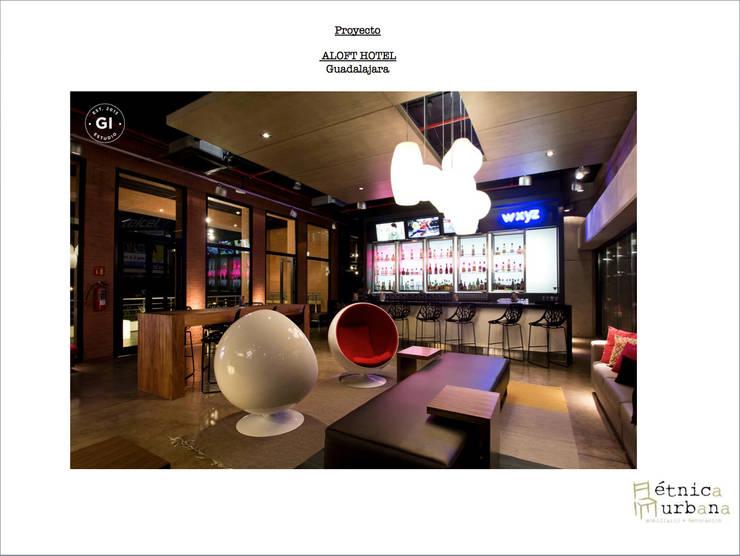 Proyecto Aloft Guadalajara: Hoteles de estilo  por Etnica Urbana