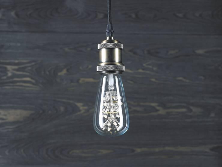 INDUSTRIAL CHIC LED – LAMPA WISZĄCA: styl , w kategorii Salon zaprojektowany przez Altavola Design Sp. z o.o.