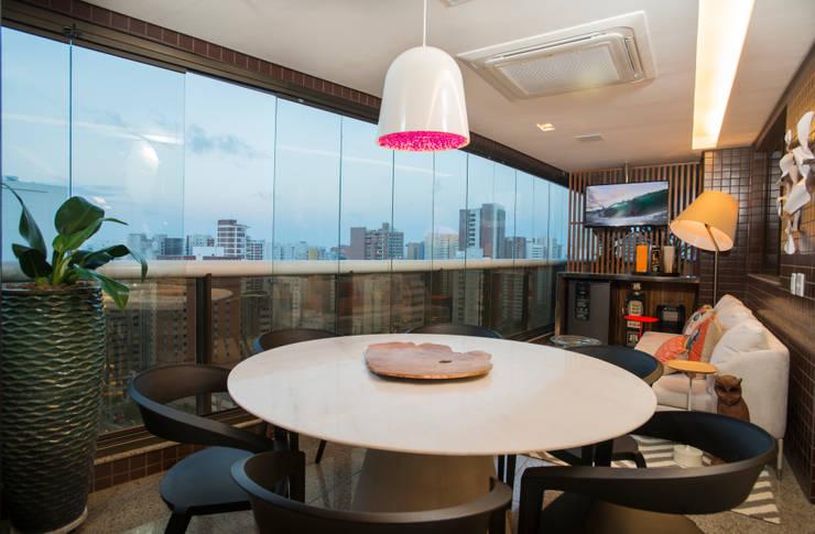 Apartamento Integrado: Terraços  por EL ARQUITETURA E INTERIORES