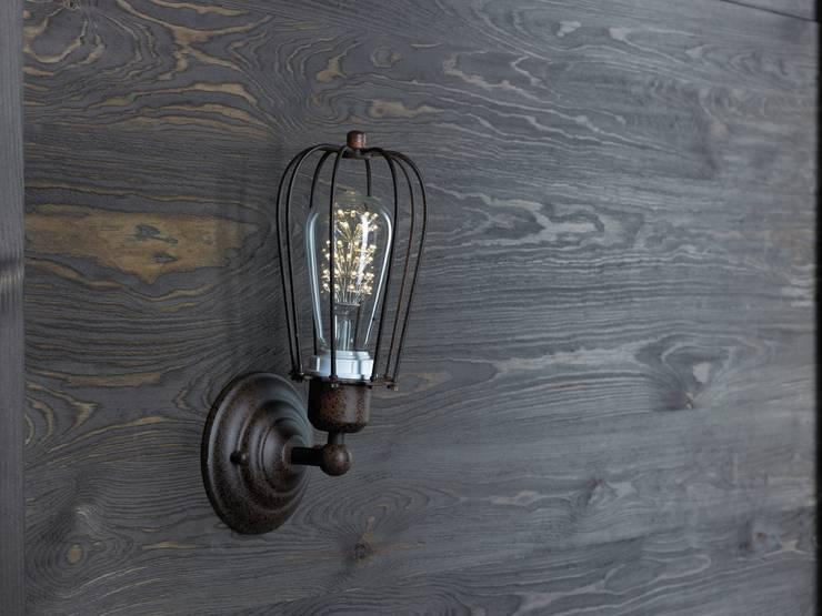 KOPENHAGEN LOFT RUSTY KINKIET LED: styl , w kategorii Salon zaprojektowany przez Altavola Design Sp. z o.o.