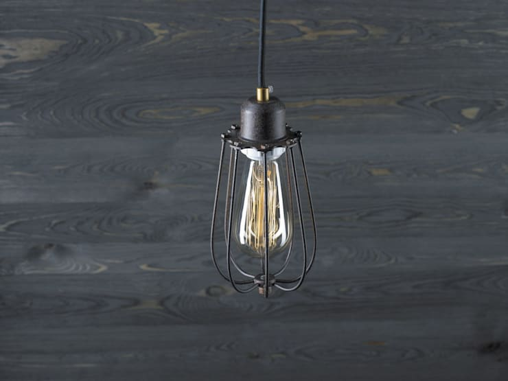 KOPENHAGEN LOFT RUSTY – LAMPA WISZĄCA: styl , w kategorii Salon zaprojektowany przez Altavola Design Sp. z o.o.