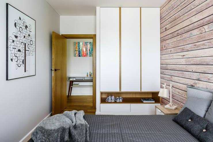 Industrial style bedroom by Anna Maria Sokołowska Architektura Wnętrz Industrial