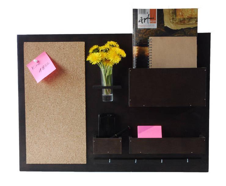 Organizer - 63x45 cm, drewniany, wenge: styl , w kategorii Domowe biuro i gabinet zaprojektowany przez Silva Design