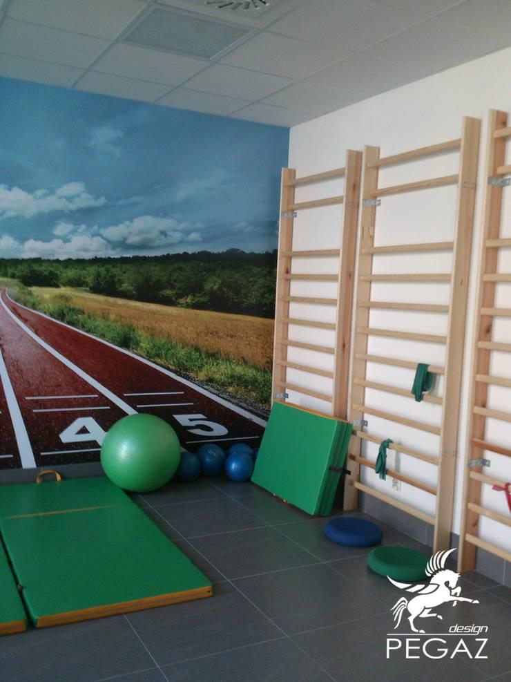 Sala do rehabilitacji: styl , w kategorii Siłownia zaprojektowany przez Pegaz Design Justyna Łuczak - Gręda