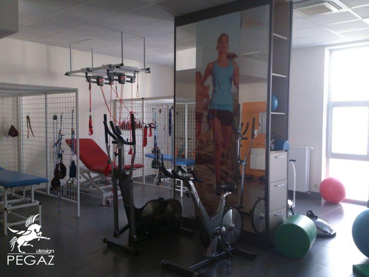 sala ćwiczeń: styl , w kategorii Siłownia zaprojektowany przez Pegaz Design Justyna Łuczak - Gręda