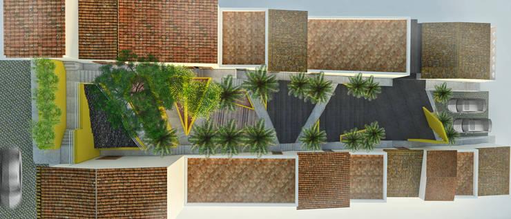 Plaza Josefa Ortiz Jardines modernos de Taller/MT Moderno