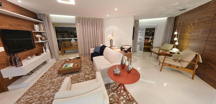 Projekty,  Salon zaprojektowane przez Aline Dinis Arquitetura de Interiores